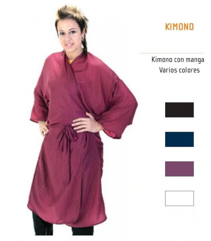 Kimono o bata con mangas peluqueria