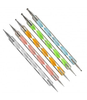 SET 5 DOTTING TOOL PUNZONES DECORACION EUROSTIL